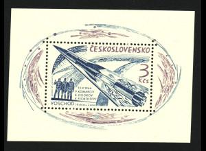 """Tschechoslowakei: 1964, Blockausgabe Weltraumflug """"Woschod 1"""""""