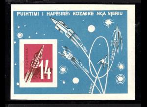 Albanien: 1962, Blockpaar Weltraumforschung (M€ 120,-)
