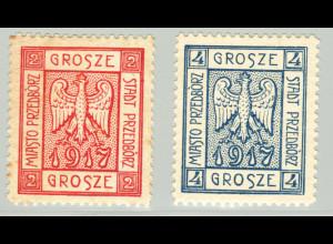 Polen: 1916, Lokalausgabe Przedborz: Wappen gezähnt (signiert, M€ 220,-)