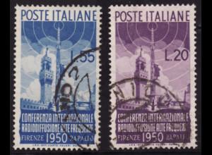 Italien: 1950, Radiokonferenz (Endwert gepr. Sorani BPP)
