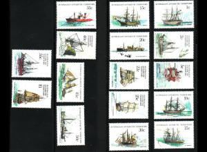 Australische Antarktisgebiete: 1979, Freimarken Schiffe