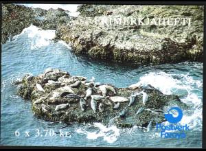 Färöer: 1992, Markenheftchen Seehunde