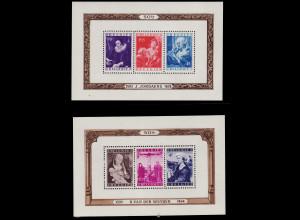 Belgien: 1949, Blockpaar Gemälde (M€ 300,-)