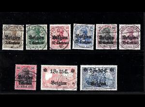 Landespost Belgien: 1914, 1. Überdruckausgabe