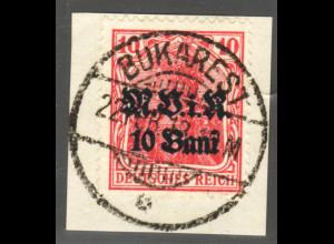 Militärverwaltung in Rumänien: 1917, Germania-Überdruck MVIR 10 Pfg.