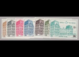 Belgien: 1971, Postpaketmarken: Überdruckausgabe Bahnhof Ostende