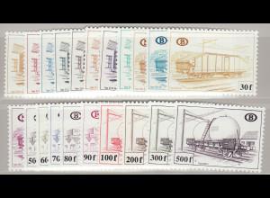 Belgien: 1980, Eisenbahnpaketmarken: Güterwaggons
