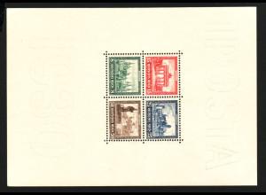 1930, IPOSTA-Blockausgabe (Falzspuren am Blockrand, M€ 550,-)