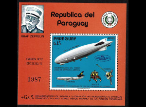 Paraguay: 1975, Blockausgabe Zeppelin (M€ 50,-)