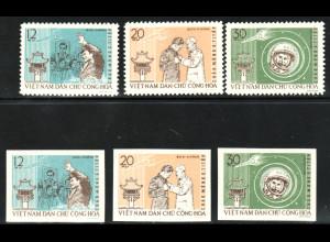 Nord-Vietnam: 1962, Weltraumflieger G. Titow (gez. und ungezähnt, ohne Gummi verausgabt)