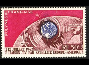Französisch Polynesien: 1962, Fernsehsatellit Telestar