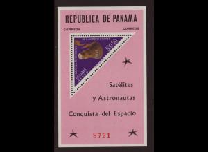 Panama: 1964, Blockausgabe Weltraum, Mercury-Kapsel (Einzelstück)