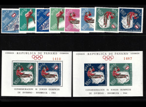Panama: 1963, Winterolympiade Innsbruck (Satz und Blockpaar)