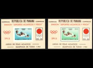 Panama: 1964, Blockpaar Sommerolympiade Tokio (Wasserball)