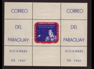 Paraguay: 1961, Blockausgabe Astronaut Shepard