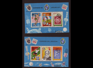 Uruguay: 1976, Blockpaar Jahresereignisse (Weltraummotiv, M€ 110,-)