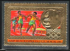 Zentralafrikanische Republik: 1980, Goldmarke Sommerolympiade Moskau