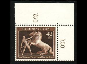 1939, Braunes Band Rossbändiger (Eckrandstück oben rechts)