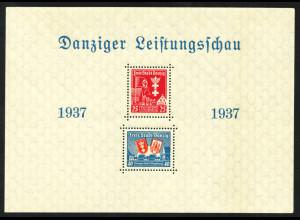 Danzig: 1937, Blockausgabe Leistungsschau (minimale Beanstandungen)