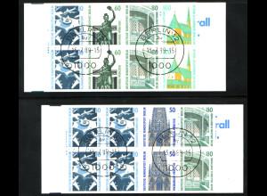 1989, Markenheftchenpaar Sehenswürdigkeiten (M€ 190,-)