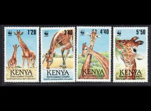 Kenia: 1989, Giraffen (WWF-Ausgabe)