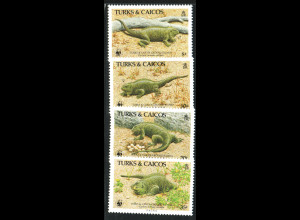 Turks- und Caicos-Inseln: 1986, Leguane (WWF-Ausgabe)