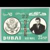 Dubai: 1964, Überdruckausgabe Kennedy (ungezähnt)