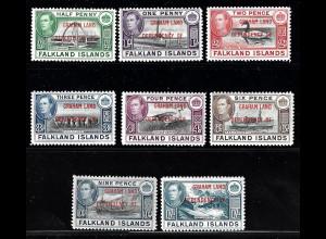 Falkland – Süd Georgien: 1944, Freimarken für Süd-Georgien
