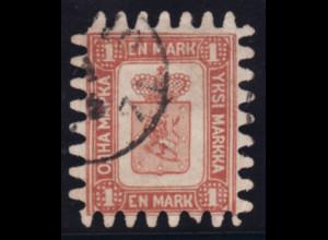 Finnland: 1866, Wappen 1 M. in sehr sauberer Erhaltung (M€ 1500,-)