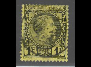 Monaco: 1885, Fürst Charles III. 1 Fr. (zentr. gest., M€ 300,-)