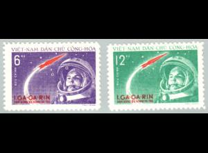 Nord-Vietnam: 1962, Weltraumflieger Gagarin (ohne Gummi verausgabt)
