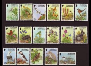 Alderney: 1994, Freimarken Flora und Fauna