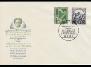 1950, Philharmonie (amtlicher Ersttagsbrief, M€ 300,-)