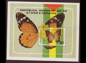 Sao Thomé und Principe: 1979, Blockausgabe Schmetterlinge