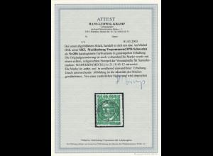 Mecklenburg: R. Breitscheid 6 Pfg. schwärzlichgelbsmaragdgrün (Fotoattest)