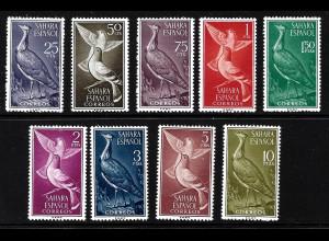 Spanisch-Sahara: 1961, Freimarken Vögel