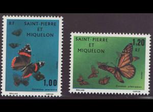 St. Pierre und Miquelon: 1975, Schmetterlinge