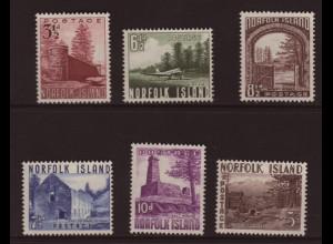 Norfolk-Inseln: 1953, Freimarken Ansichten