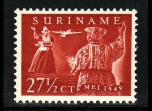 Surinam: 1949, Flugpost-Ausgabe (Trachten)