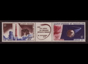 """St. Pierre und Miquelon: 1966, Zwischenstegpaar Satellit """"A1"""""""