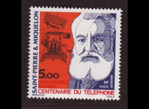 St. Pierre und Miquelon: 1976, 100 Jahre Telefon