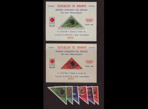 Panama: 1964, Eroberung des Weltraums (Dreiecksmarken und Blockpaar)