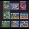 St. Lucia: 1980, Comic-Ausgabe Mickey Mouse (Weltraummotive)