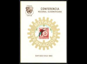 Chile: 1960, Malariabekämpfung (nicht frankaturgültiges Gedenkblatt mit Aufdruck; Auflage nur 2000 Stück)