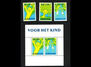 Surinam: 1992, Kinderzeichnungen (Satz und Blockausgabe)