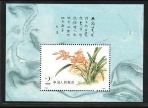 China-VR: 1988, Blockausgabe Orchideen