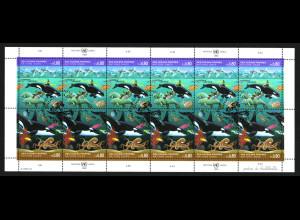 UNO Genf: 1992, Kleinbogen Saubere Meere