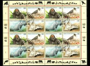 UNO Genf: 1993, Zdr.-Kleinbogen Gefährdete Arten I (Tiere)