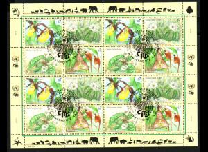 UNO Wien: 1996, Zdr.-Kleinbogen Gefährdete Arten IV (Blumen)