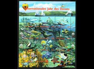 UNO Wien: 1998, Kleinbogen Jahr des Ozeans